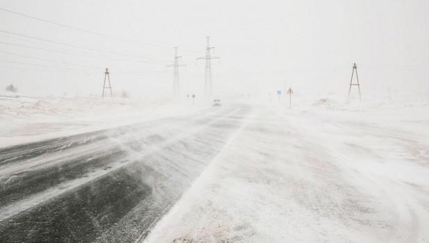 В Алтайский край идет сильный ветер, дождь и снег