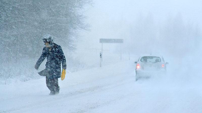 Правила поведения в метель и снежную бурю